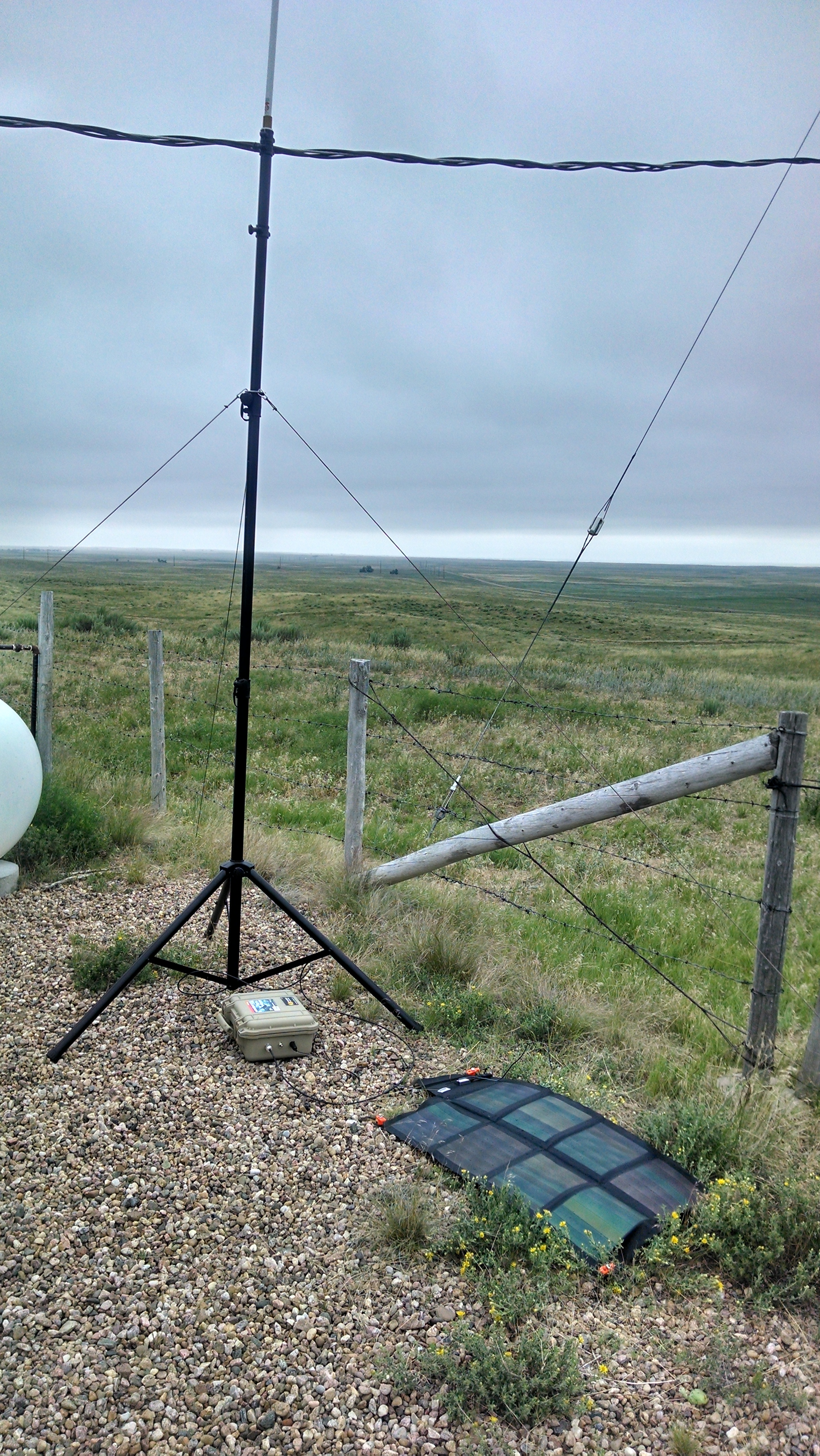 Repeater set up at a remote tower site.